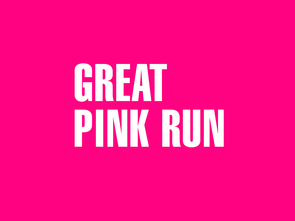 Logo of the great pink run